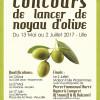 Finale du concours de lancer de noyau d'olive