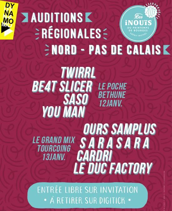Auditions des iNOUïS – Printemps de Bourges