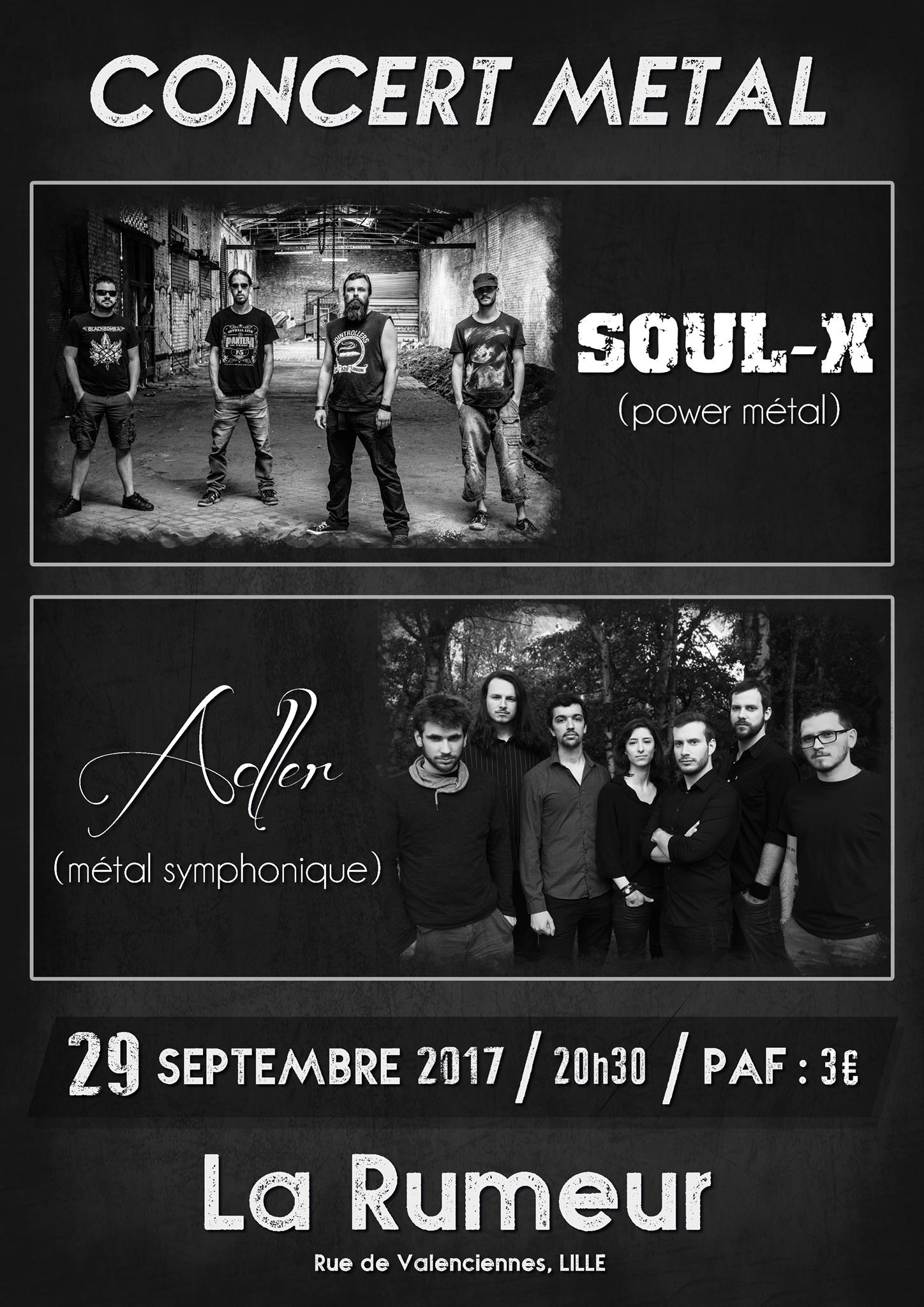 concerts adler soul x la rumeur lille la. Black Bedroom Furniture Sets. Home Design Ideas