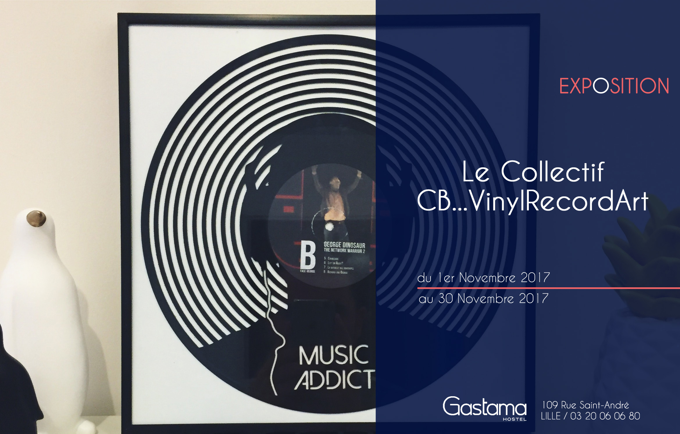 Exposition de CB Vinyl Record Art
