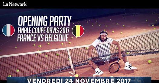 Opening Party : Finale Coupe Davis 2017 avec Bob Sinclar