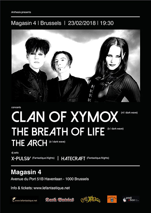 Clan of Xymox + The Breath of Life + The Arch + DJ sets