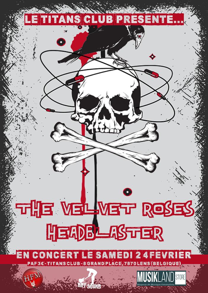The Velvet Roses + Headblaster