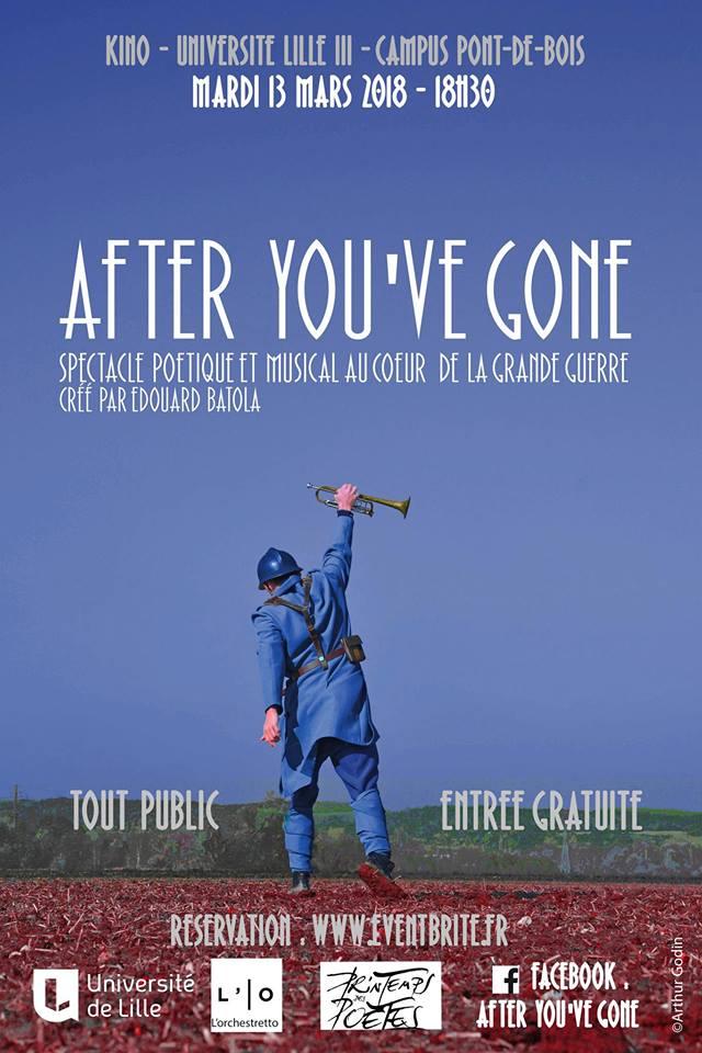 After You've Gone, poèmes et musiques