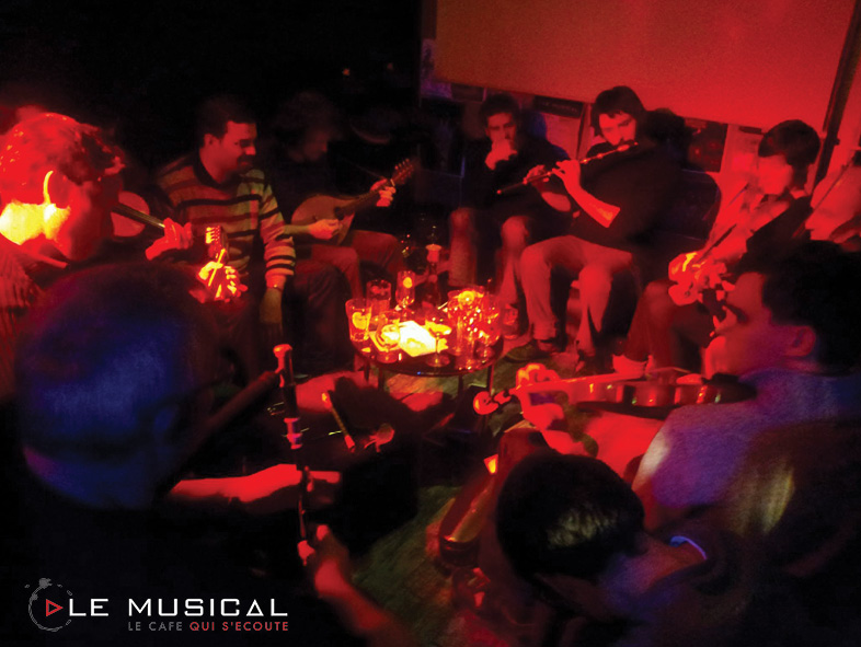 Jam session irlandaise au Musical