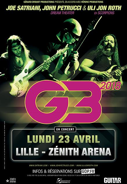 G3 avec Joe Satriani, John Petrucci & Uli Jon Roth