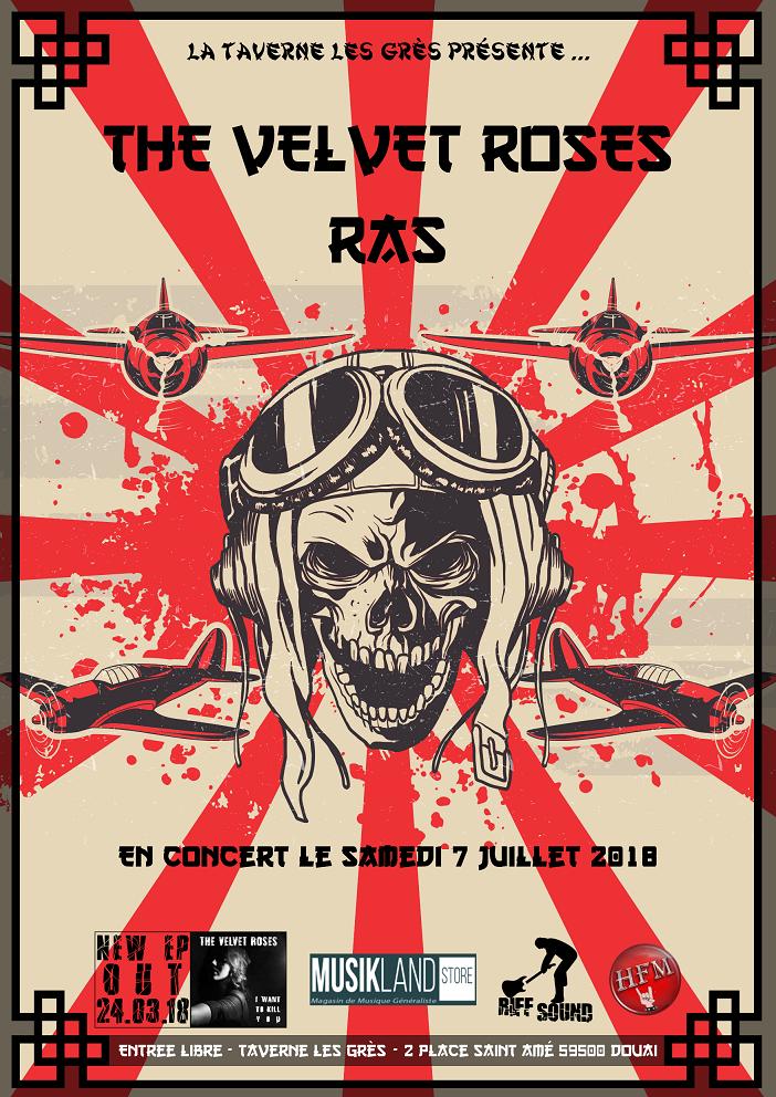 The Velvet Roses + R.A.S pour la fin du Bullshit Tour 2017/2018