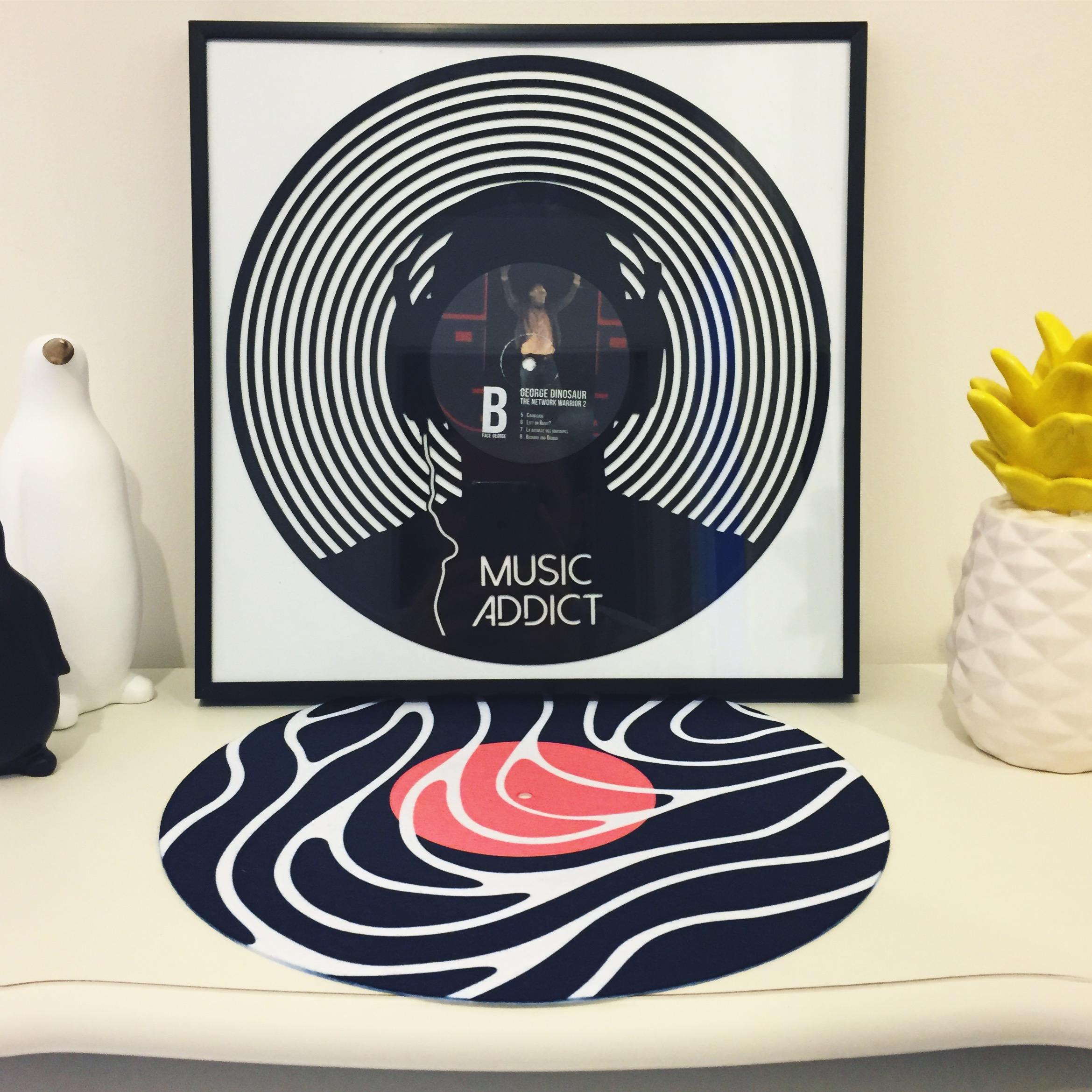 Art et sculptures autour du disque vinyle à La Rumeur