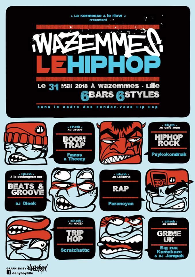 Wazemmes le hip hop – 6 bars 6 styles