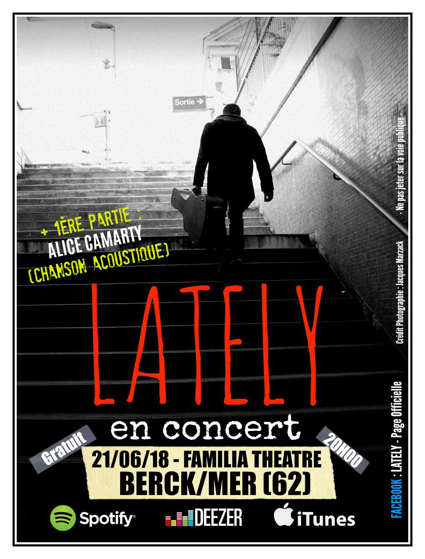 Lately + Alice Camarty au Familia Théâtre