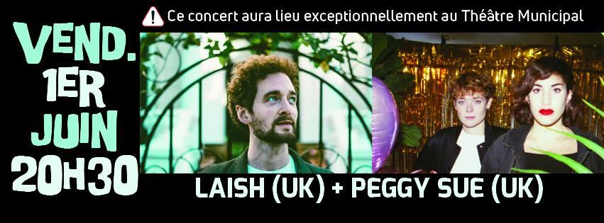 Laish + Peggy Sue en concert