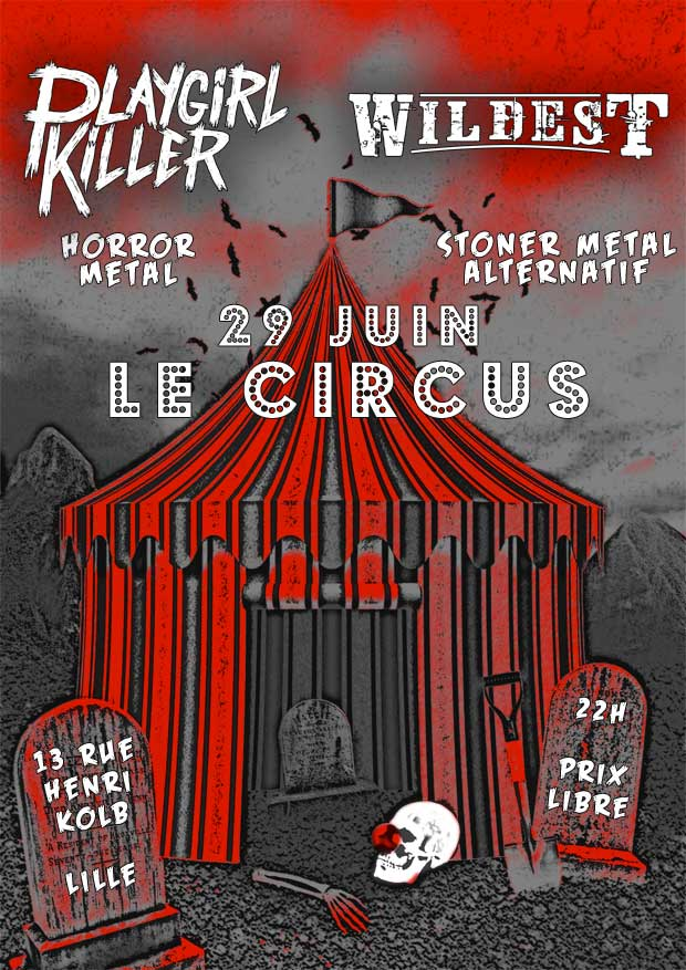 Playgirl Killer + Wildest en concert au Circus