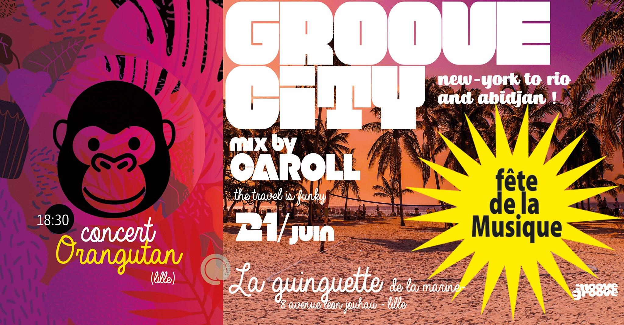 Groove City Mix by DJ Caroll à la Guinguette pour la Fête de la Musique