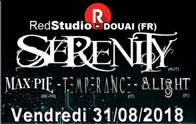 Serenity + Max Pie + Temperance + Alight au Red Studio