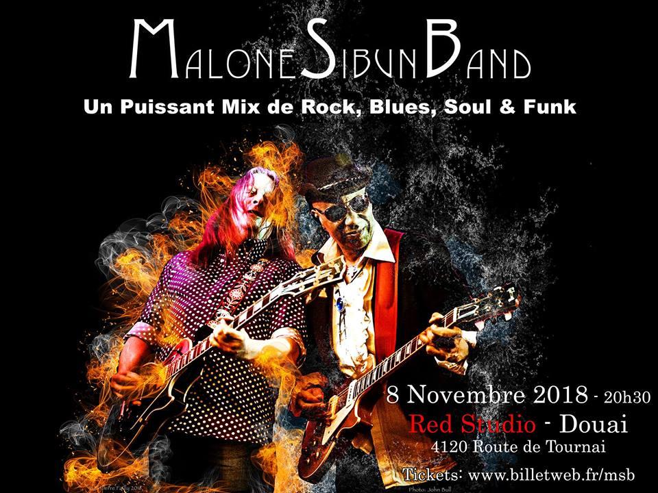 Malone Sibun Band au Red Studio