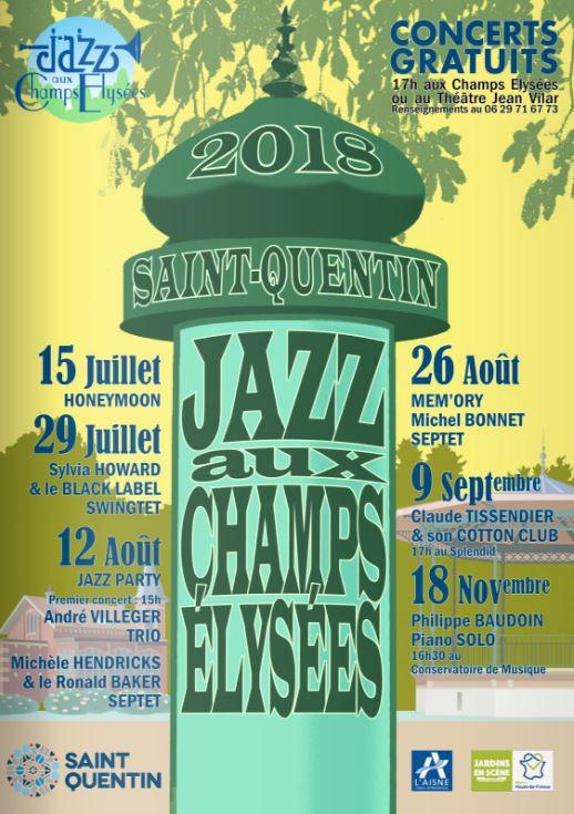 Jazz aux Champs-Elysées de St-Quentin 2018