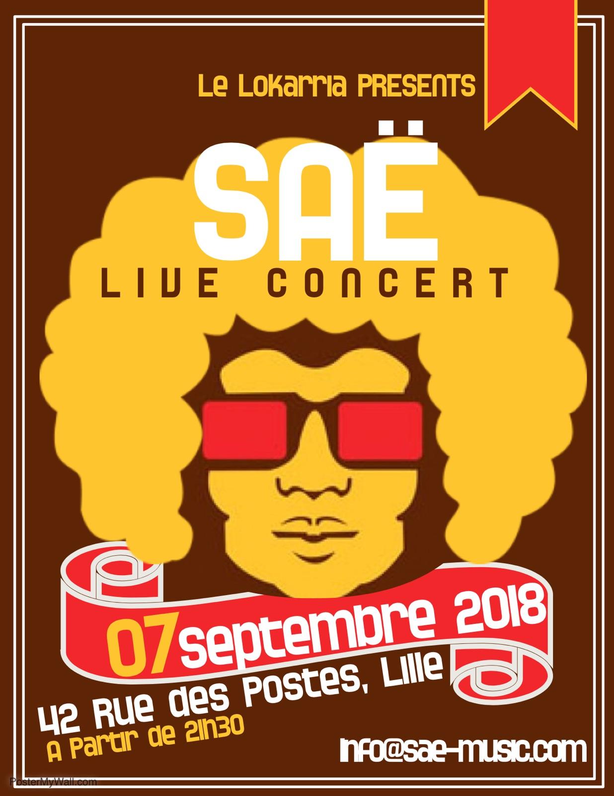 Concert Electrofunk de Saë – Get lucky, Get funky