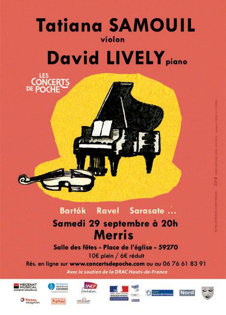 David Lively et Tatiana Samouil en concert à Merris