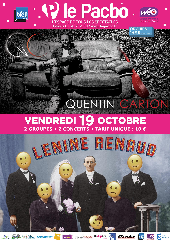 Quentin Carton + Lénine Renaud au PACBO