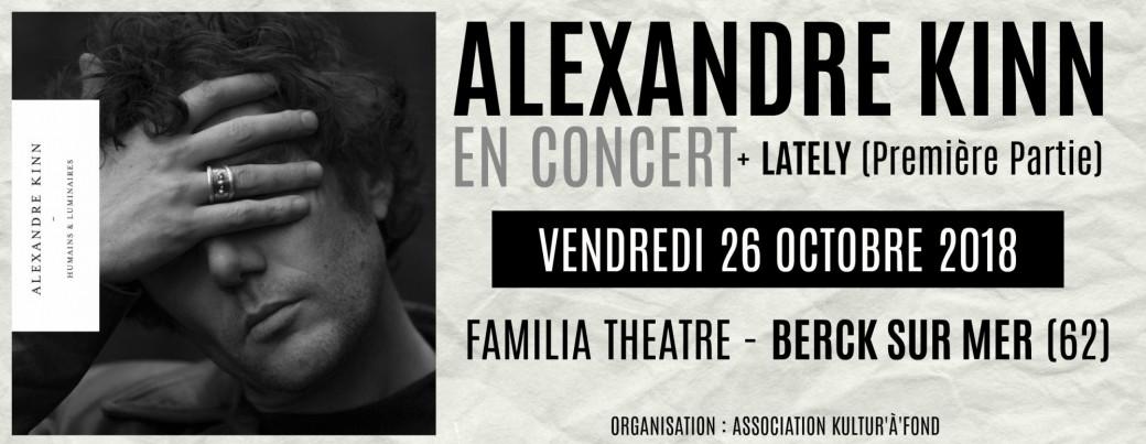 Alexandre Kinn + Lately en concert