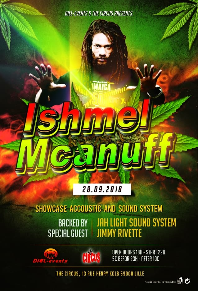 Ishmel Mcanuff + Jah Light Sound System + Jimmy Rivette