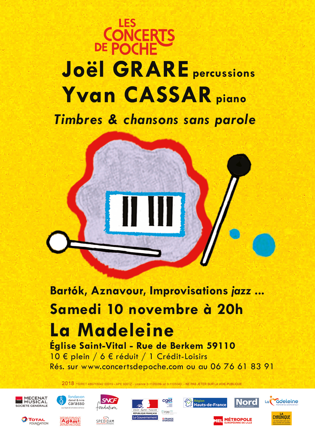 Joël Grare et Yvan Cassar interprètent Bartók, Aznavour…