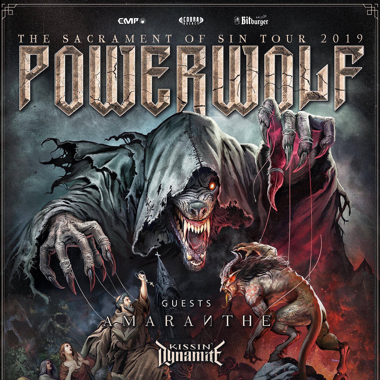Powerwolf + Amaranthe + Kissin' Dynamite