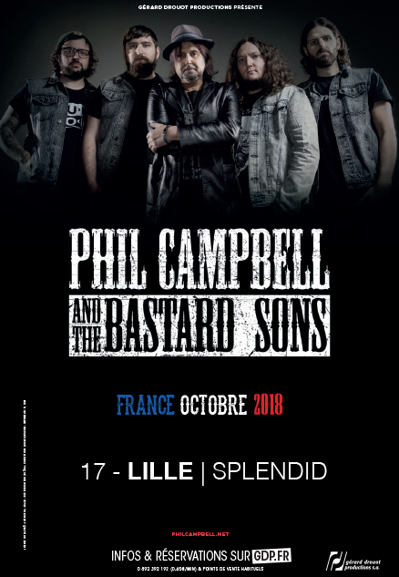Phil Campbell (du groupe Motörhead) and the Bastard Sons
