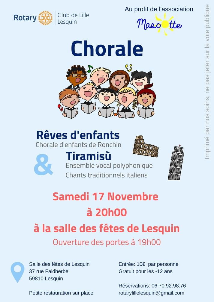 Chorale d'enfants à la salle des fêtes de Lesquin