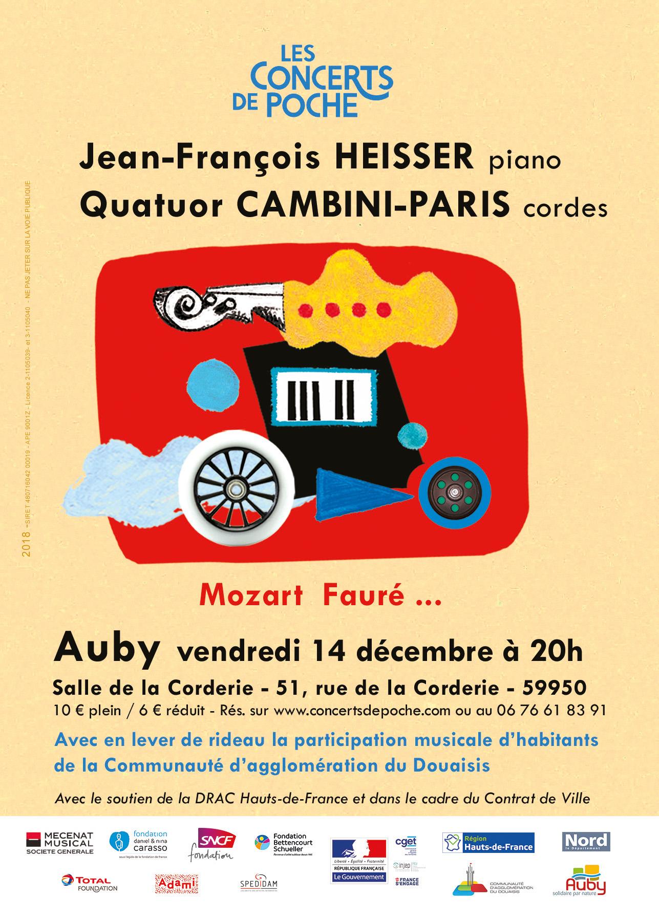 Jean-François Heisser et le Quatuor Cambini-Paris