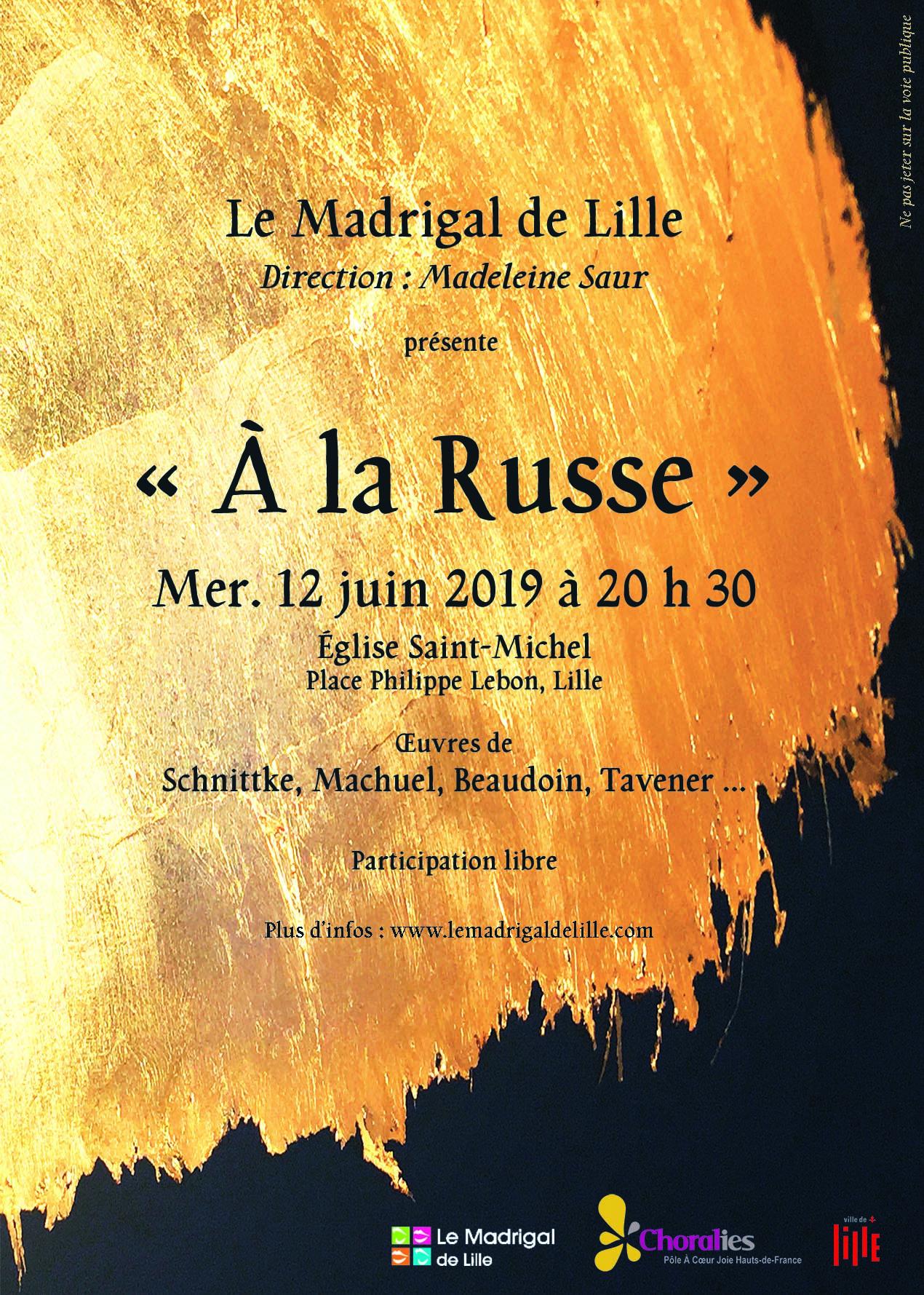 Le Madrigal de Lille en concert «À la russe»