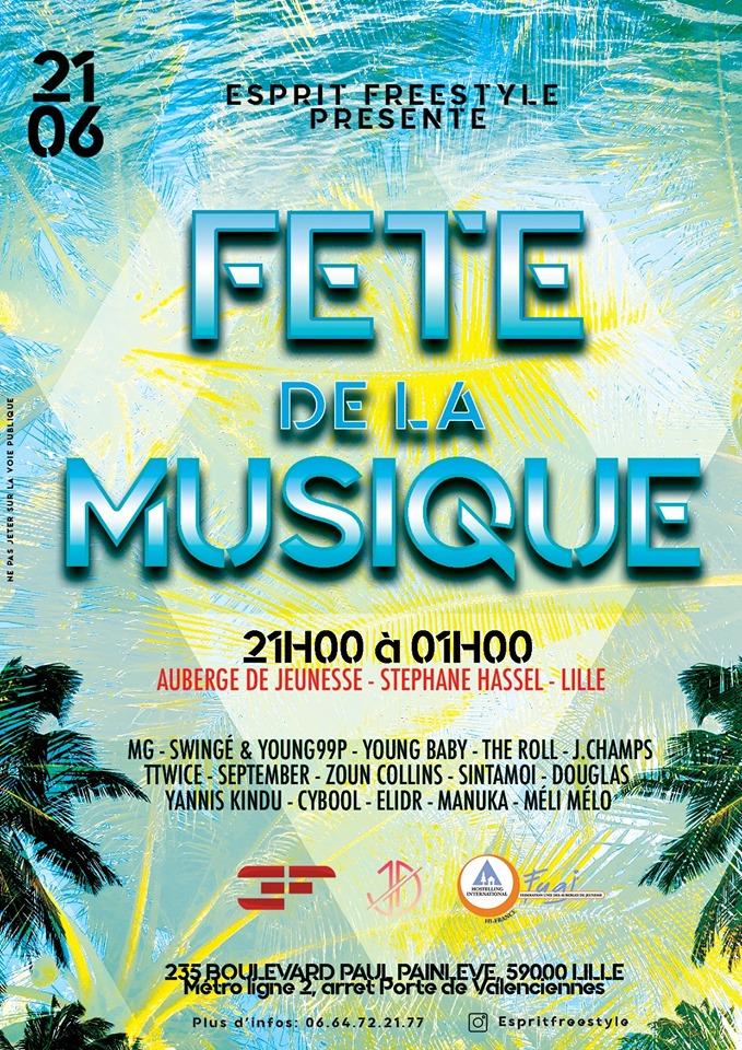 Esprit Freestyle à HI Lille pour la Fête de la Musique