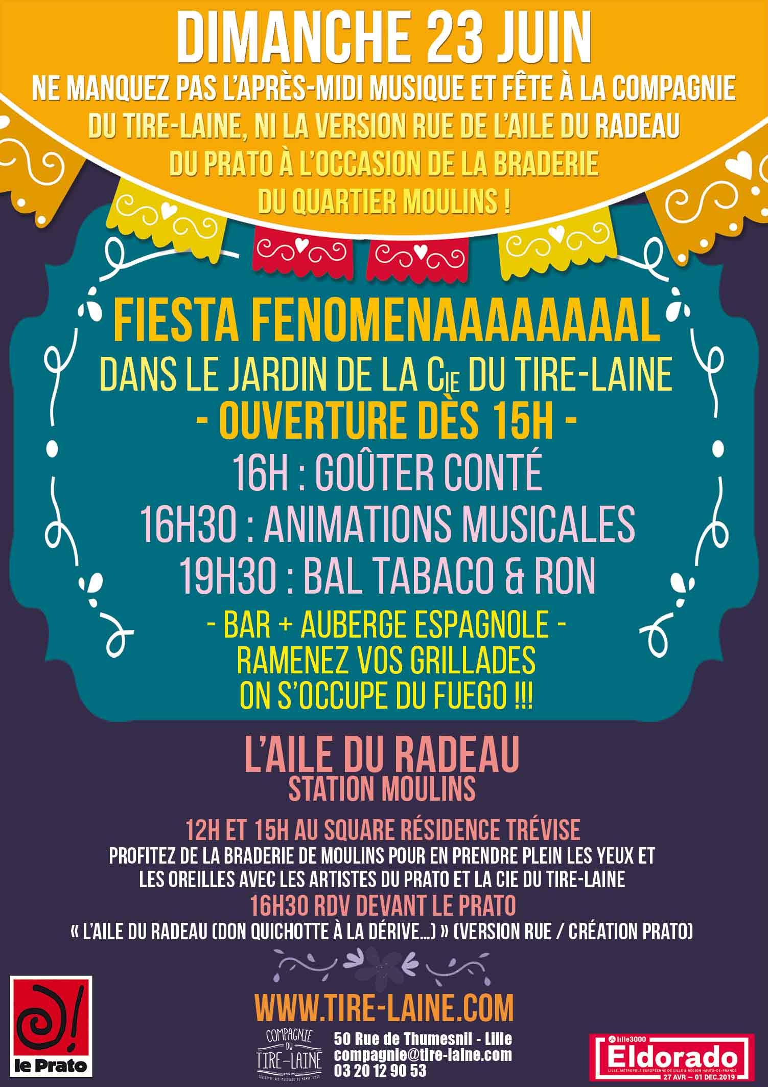 Fiesta Fenomenaaaal dans le jardin du Tire-Laine !