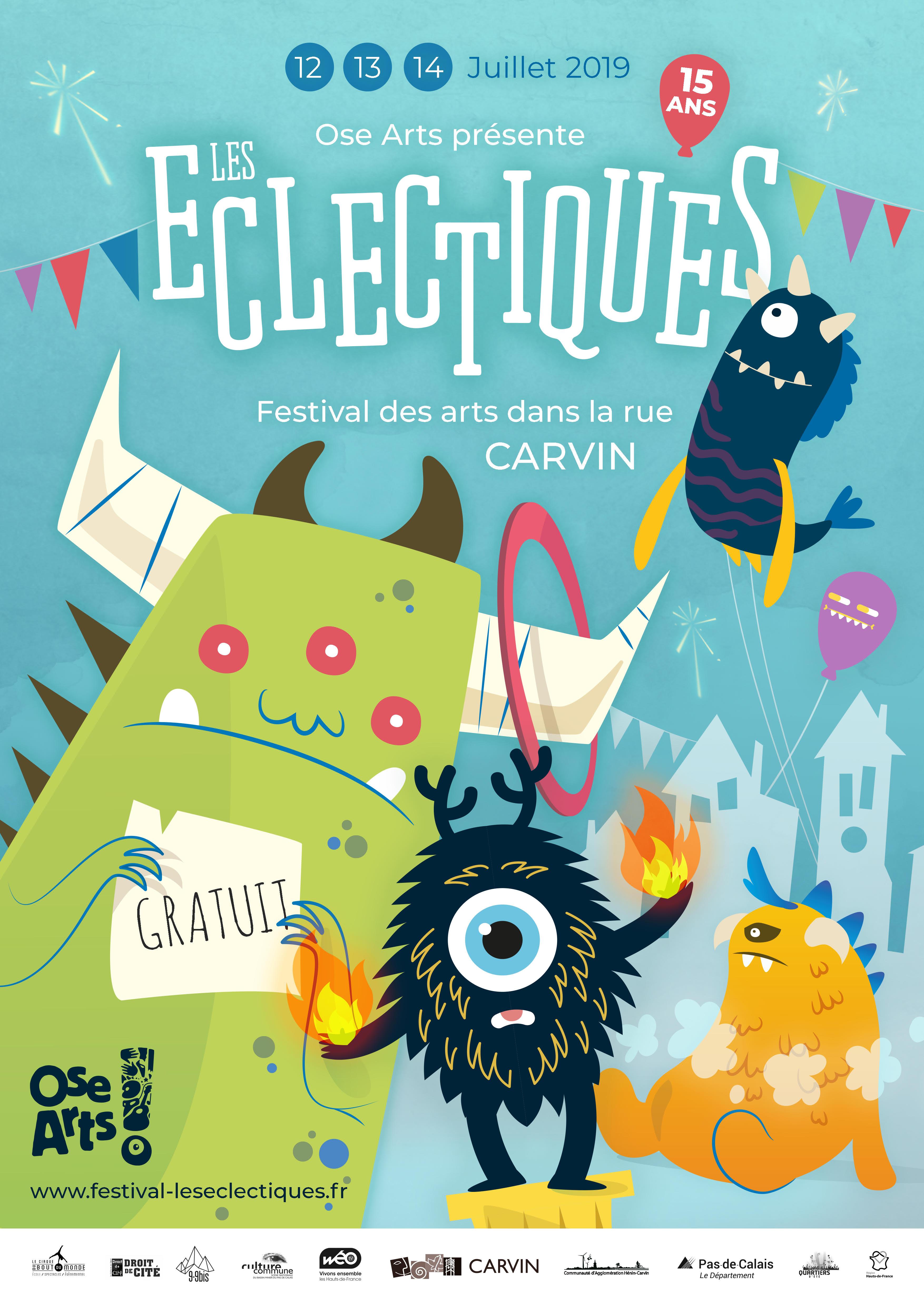 Les Eclectiques, festival dans les rues de Carvin