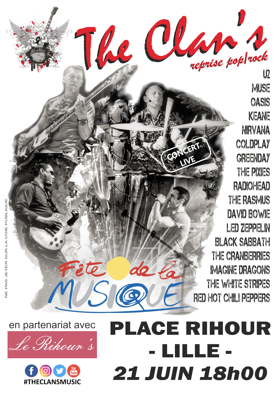 The Clan's fête la musique à Lille, place Rihour !