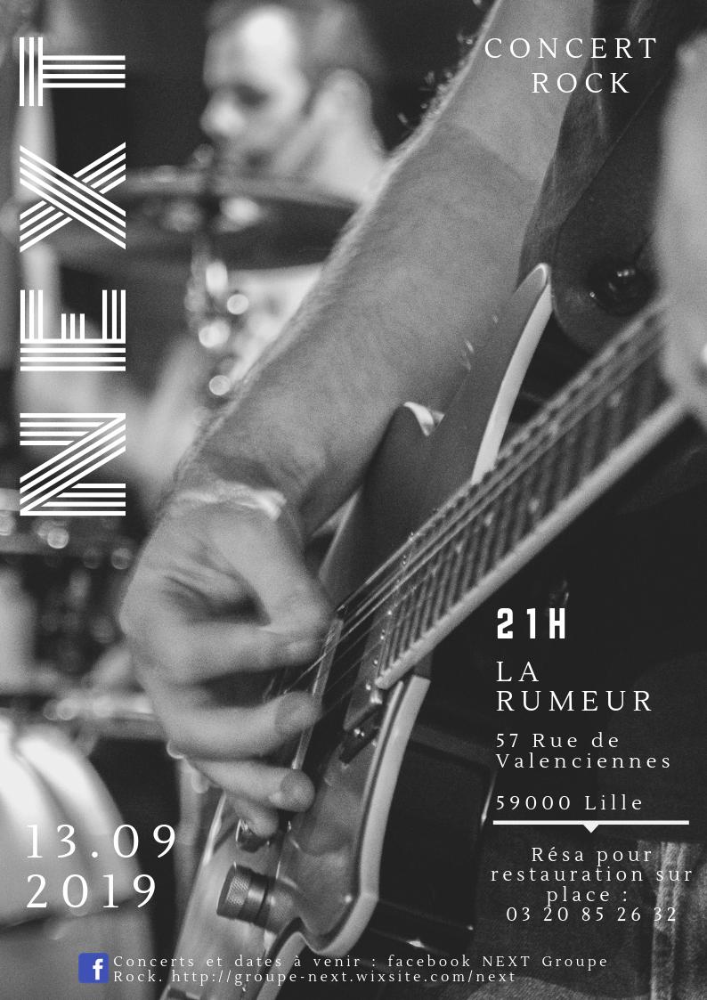 Next en concert à la Rumeur