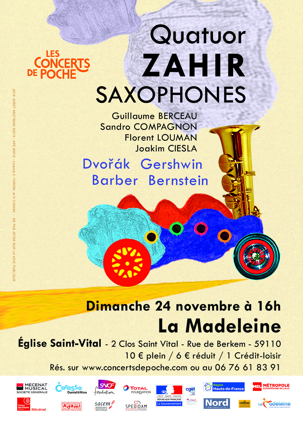 Quatuor Zahir, virtuoses du saxophone
