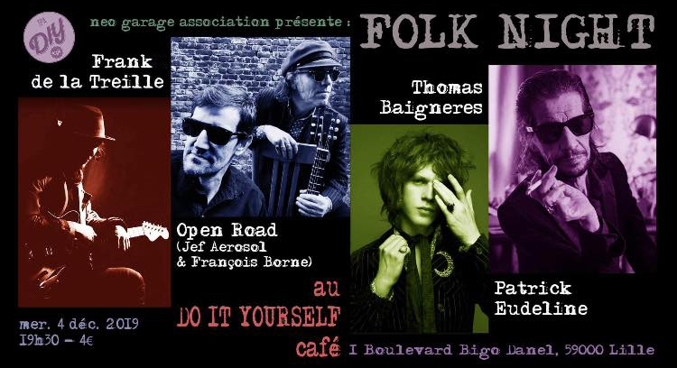 Folk Night : Frank de la Treille + Open Road