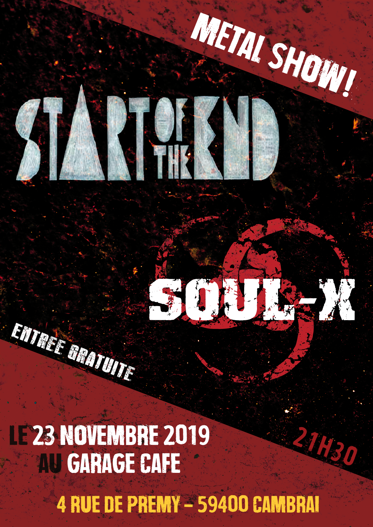 Start of the End + Soul-X au Garage café