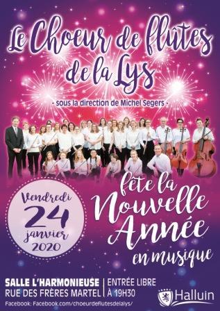 Le Chœur de flûtes de La Lys fête la Nouvelle année