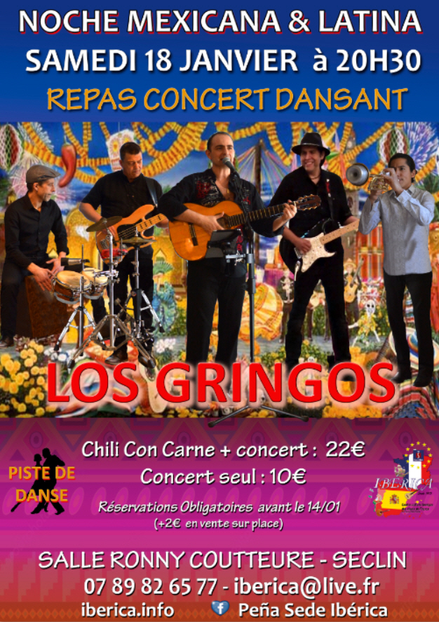 Los Gringos pour un repas-concert