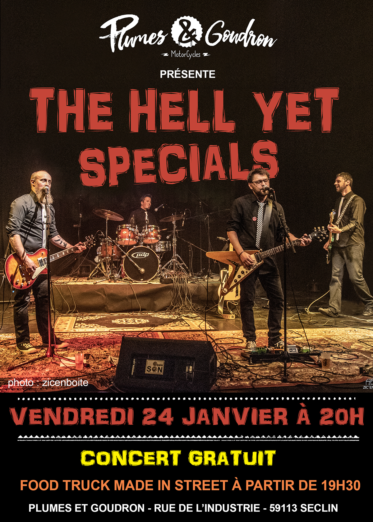 The Hell Yet Specials chez Plumes et Goudron