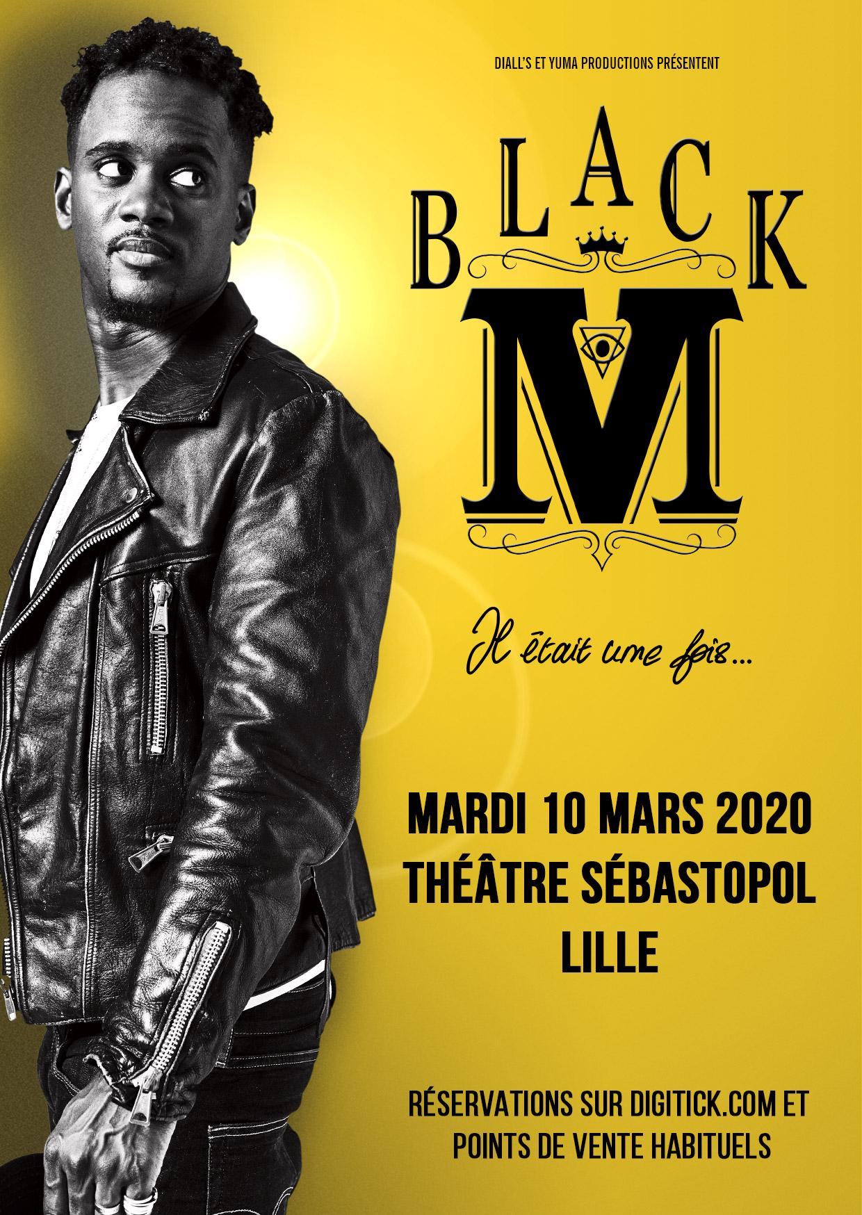 Black M en concert au Théâtre Sébastopol