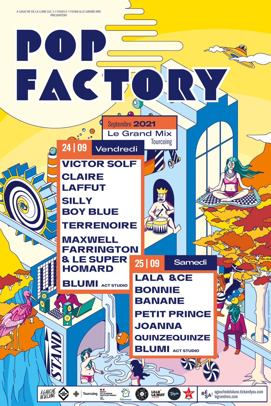 Pop Factory avec Lala &Ce + Bonnie Banane + Petit prince + Joanna + Quinzequinze