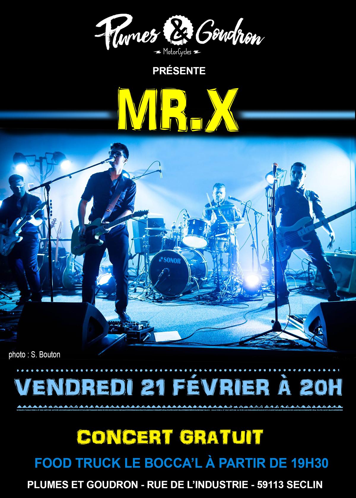 MR.X en concert chez Plumes et Goudron