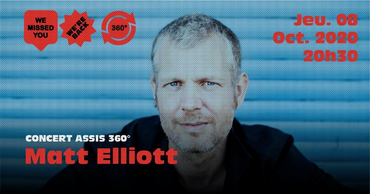 Matt Elliott Trio – Concert assis 360° à l'Aéronef