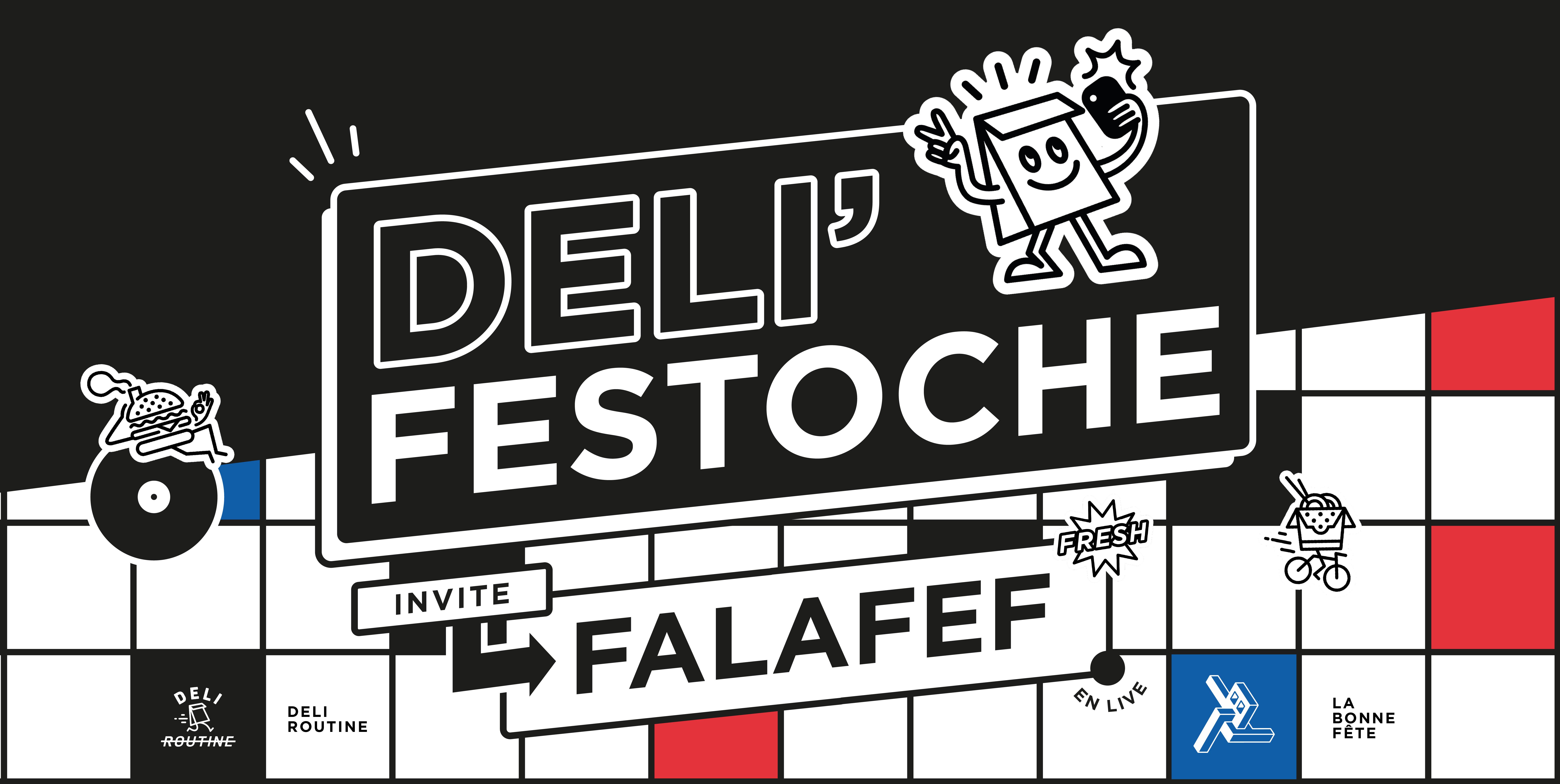 Déli'festoche #1 – Disco burgers avec Falafef !