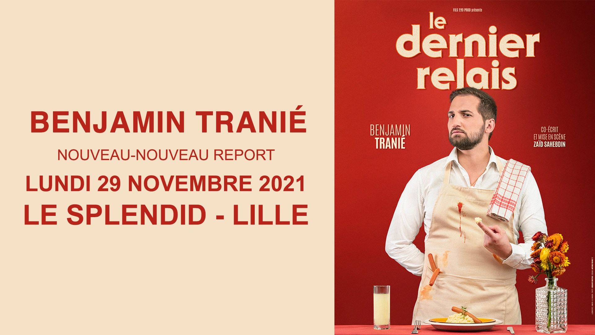 Benjamin Tranié au Splendid