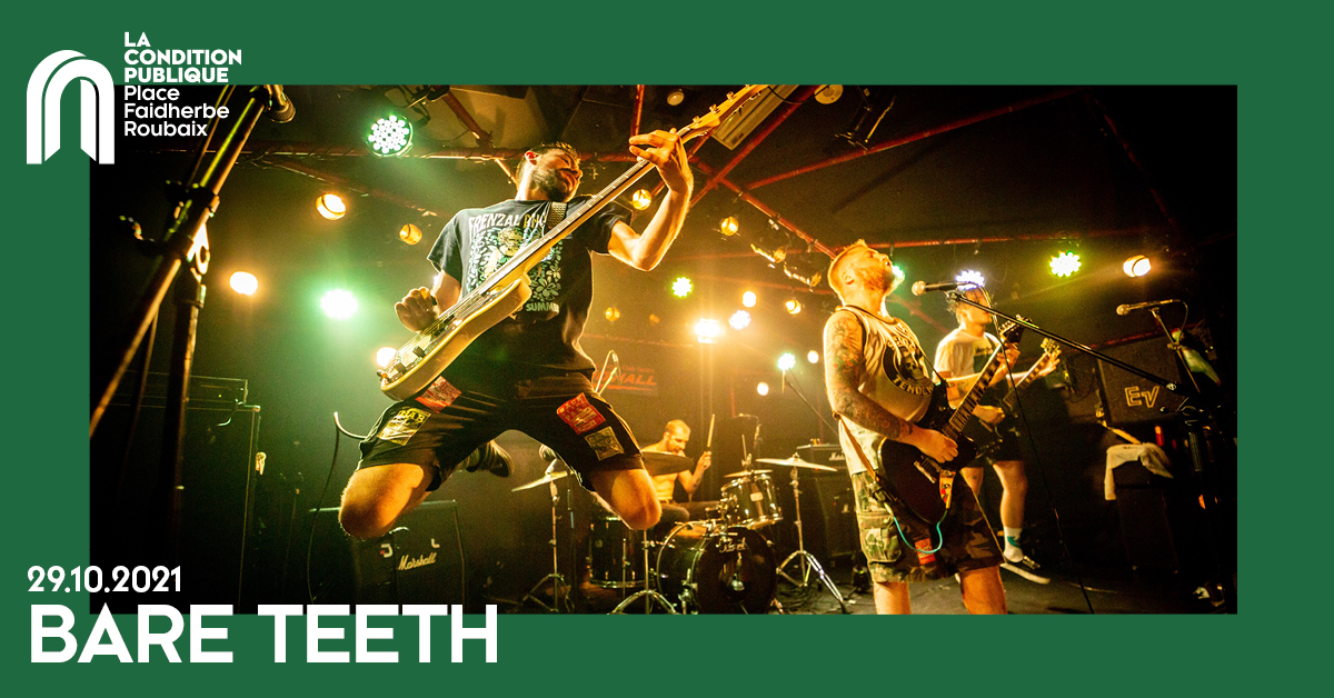 Bare Teeth en concert dans le club de la condition publique