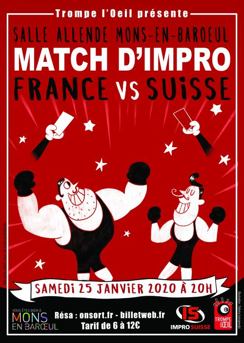 Match d'improvisation France/Suisse